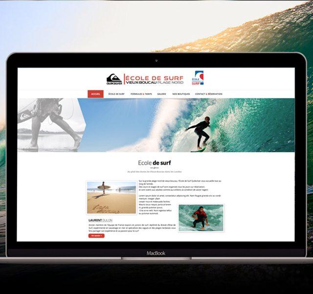 création site web quiksilver