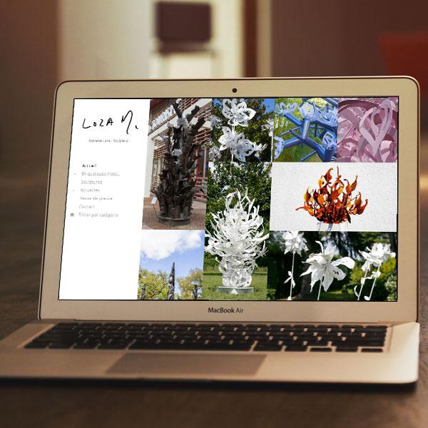 Création site web galerie Dax